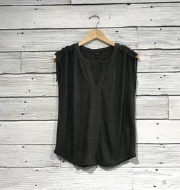 Lucky Brand Shoulder Shirring Tee