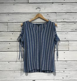 Lucky Brand Tie Shoulder Tee