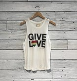 Spiritual Gangster Give Love Muscle Tank White
