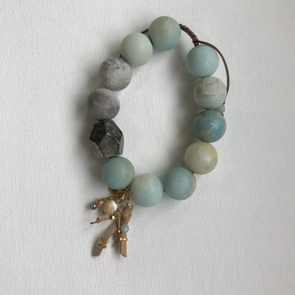 Amazonite adjustable bracelet BG5558