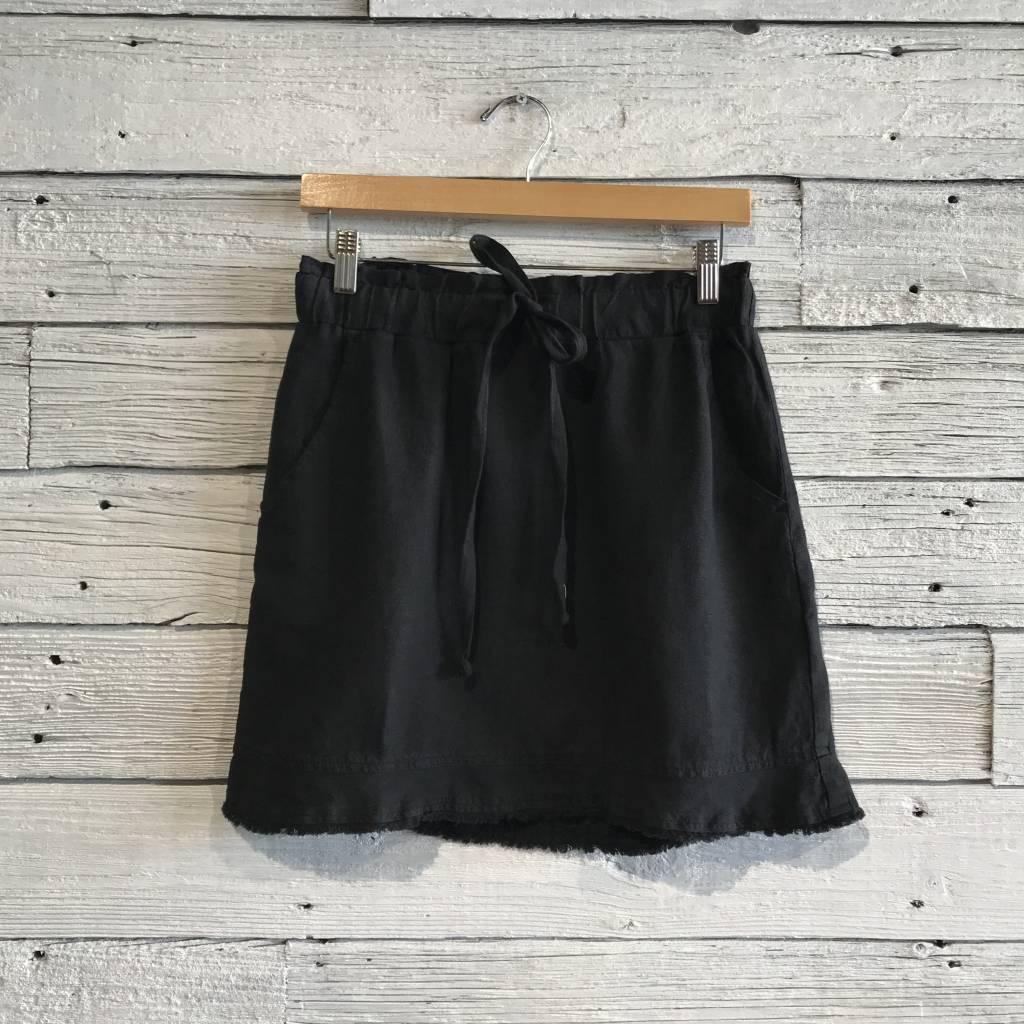 Bella Dahl Ruffle Hem Skirt Black