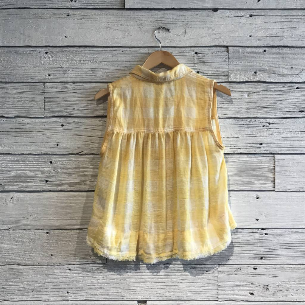 Free People Hey There Sunrise Tank Yellow