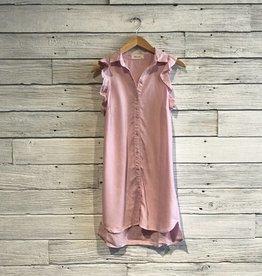Bella Dahl Ruffle shirt dress