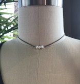 Trio Pearl Choker Necklace