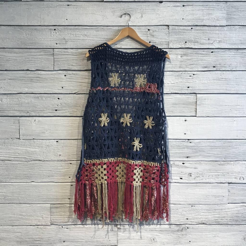 Free People American Dreaming Vest multi