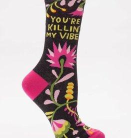killin my vibe Crew Sock