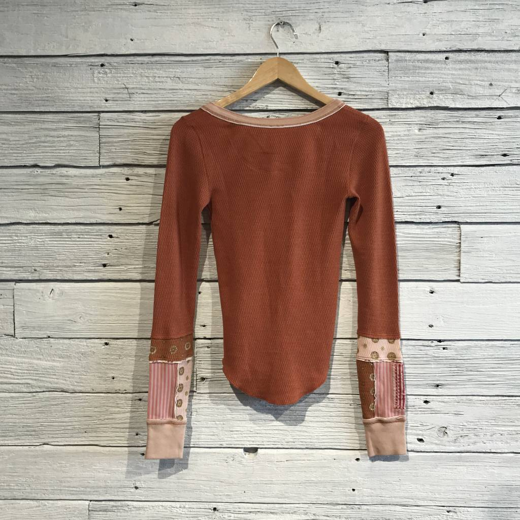 Free People Railroad Henley cedar