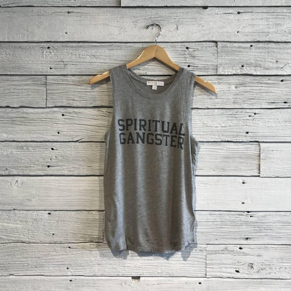 Spiritual Gangster Varsity muscle tank Heather Grey