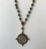 Virgins Saints & Angels Miraculous SB rosary Crystal Disco Green Black Diamond