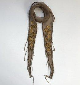 Sepia skinny scarf