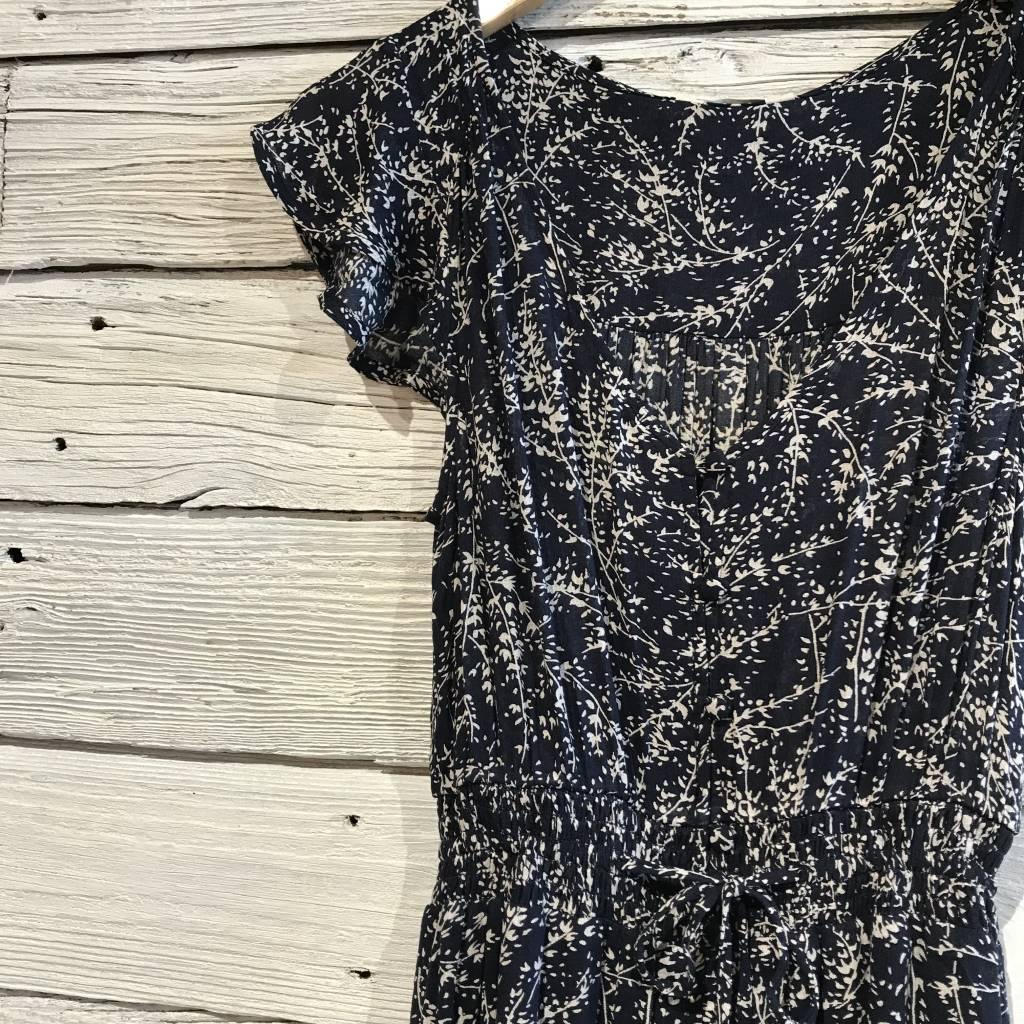 Lucky Brand Felice Floral Dress Blue Mutli Root