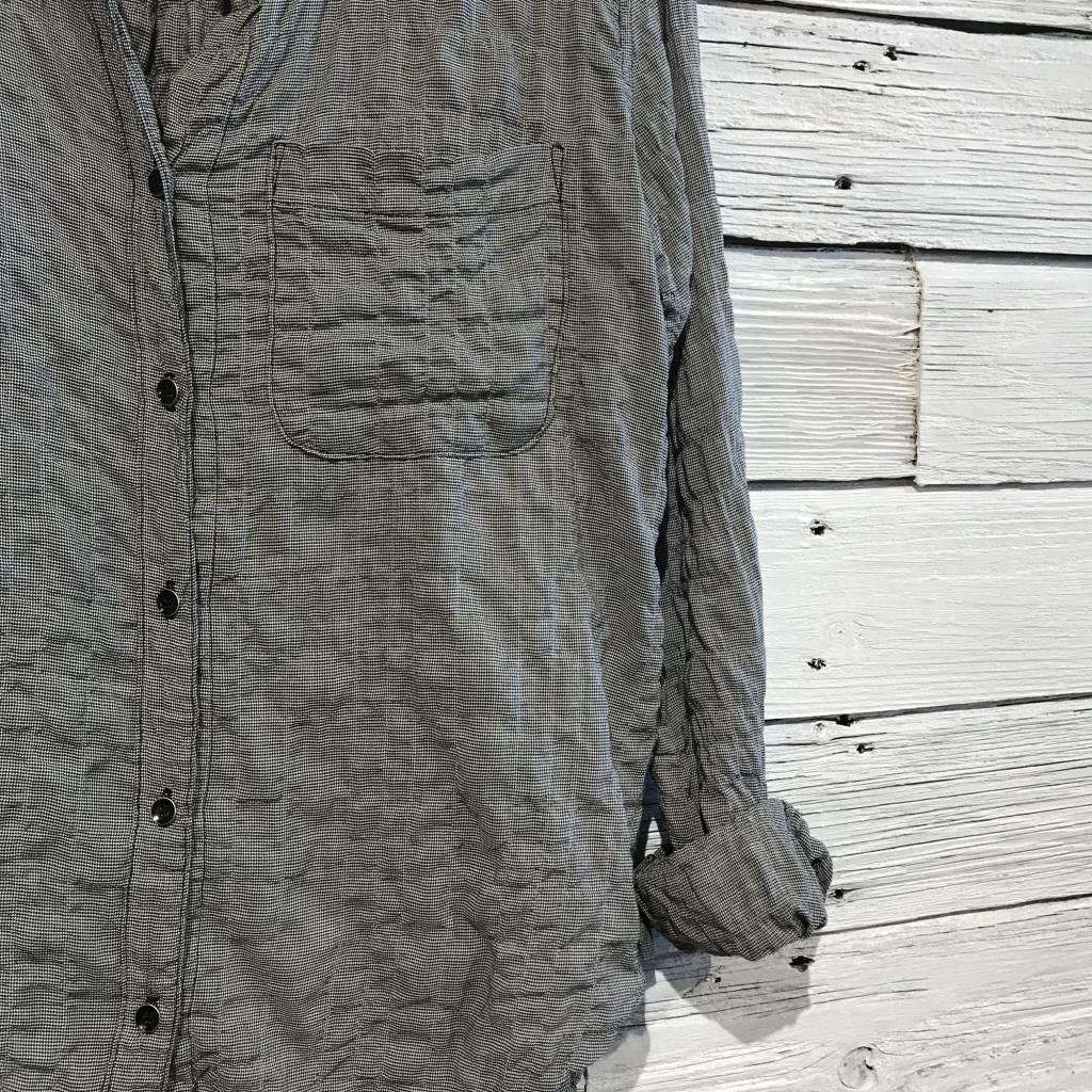 Bella Dahl pattern Pocket Button Down Black