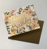 Rifle Paper Co. Blank Birthday Card Rose Birthday