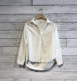 Bella Dahl Fray Button Up Frost