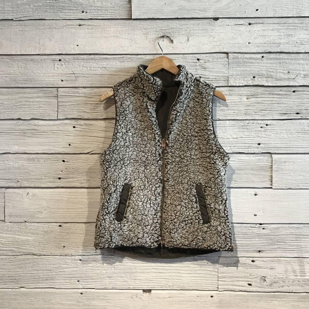 Reversible Olive Mallow Vest
