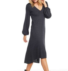 Triblend Blouson Sleeve Dress