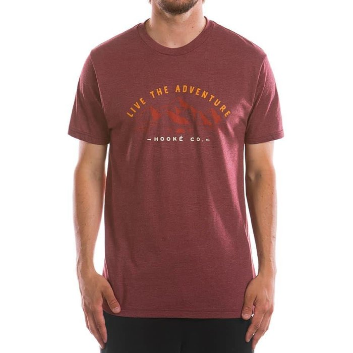 Adventure T-Shirt Heather Burgundy