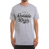 Outside By The River T-Shirt Heather Grey