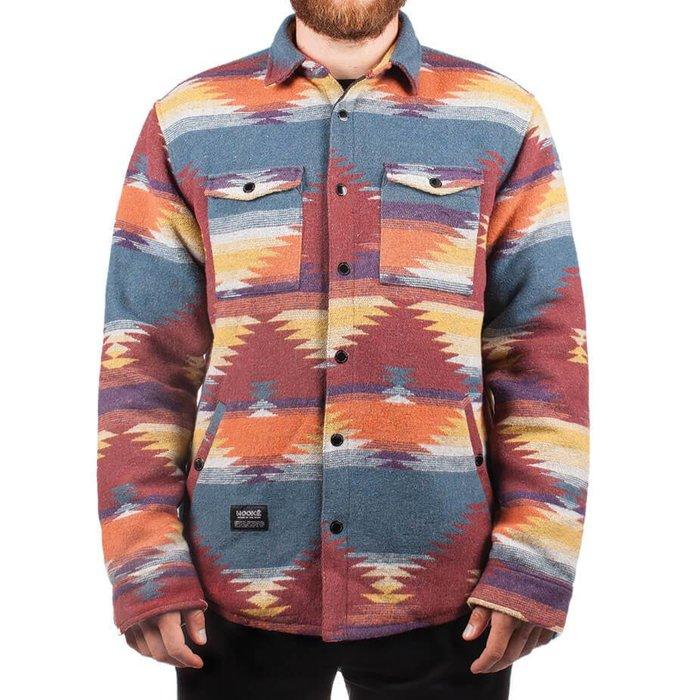 Navajo Shirt Rouge, Bleu & Orange
