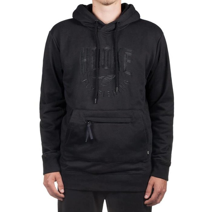 Fly Fishing Hoodie Black on Black