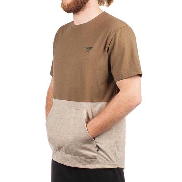 T-Shirt Kangaroo Vert Militaire & Kaki Chiné