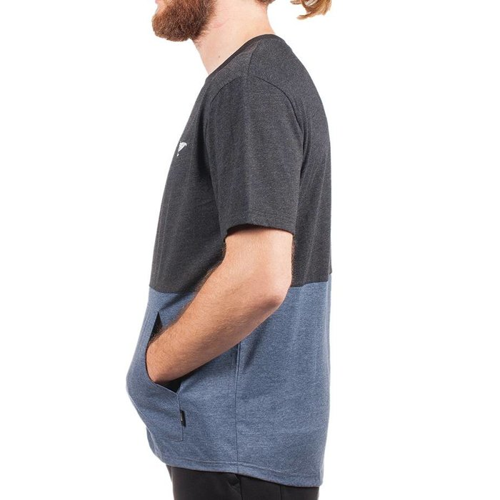 Kangaroo T-Shirt Heather Black & Heather Navy