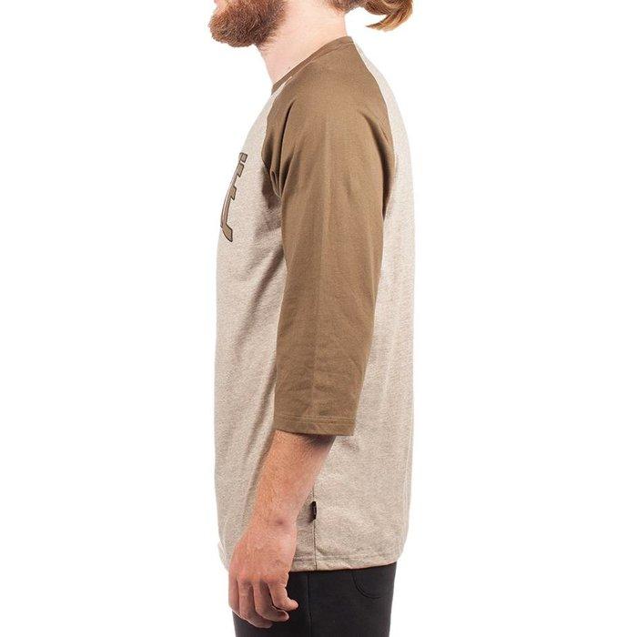 T-Shirt Hooké 3/4 Vert Militaire & Kaki Chiné