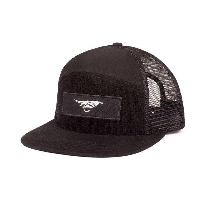 Velcro Trucker Hat Black