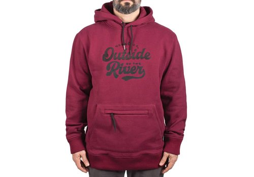 Outside By The River Hoodie Burgundy