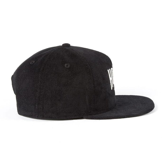Corduroy Snap Back Black