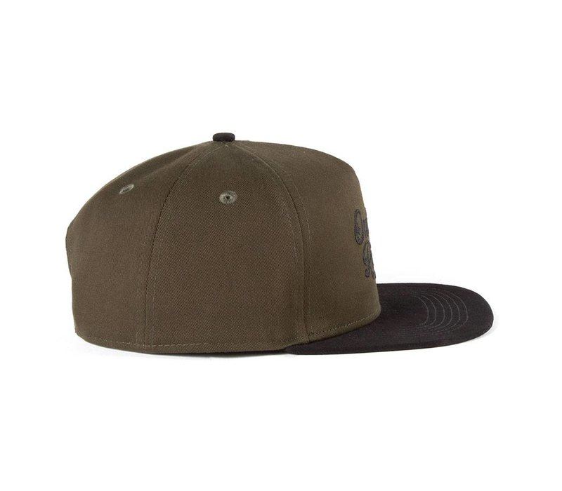 Casquette Outside By the River Vert Olive & Noir