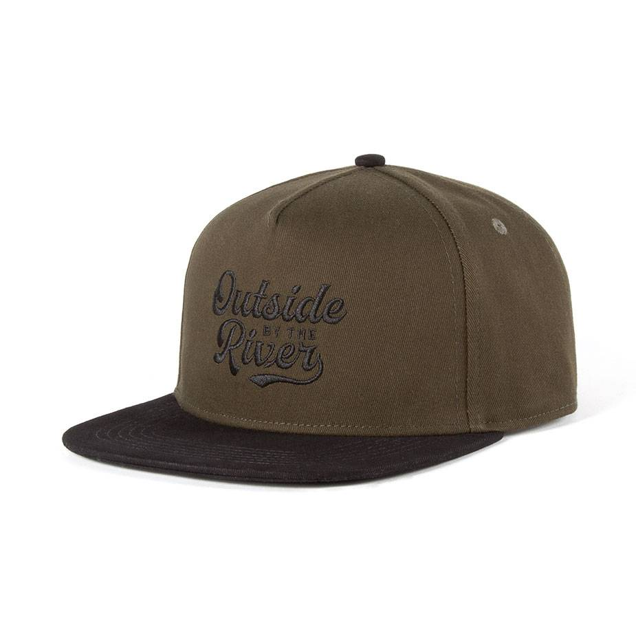 Outside By the River Cap Dark Olive & Black