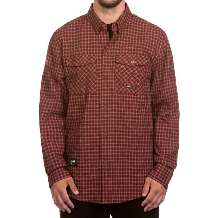 Adventure Shirt Red, Beige & Navy