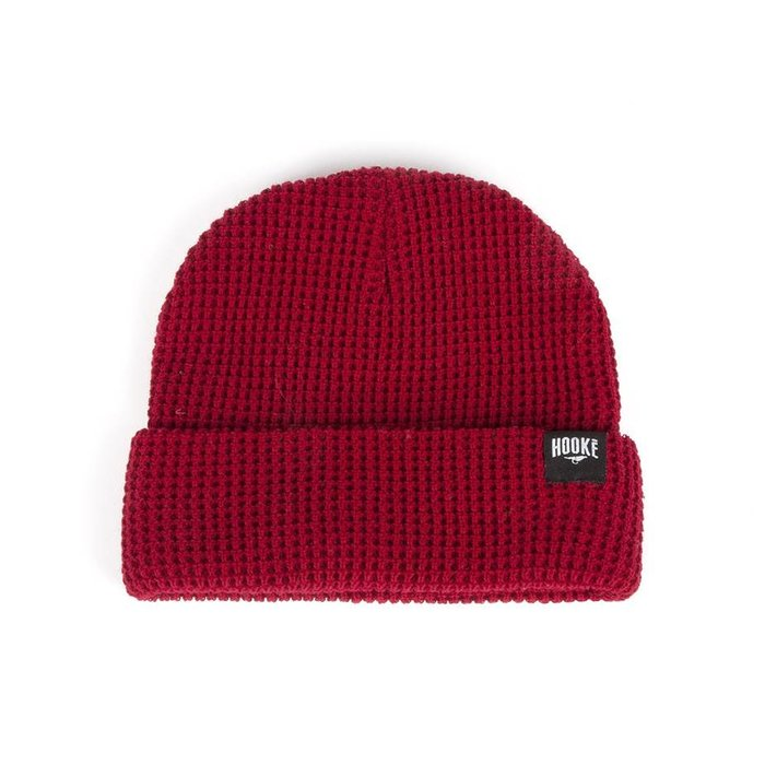 Waffle Beanie Scarlet Red