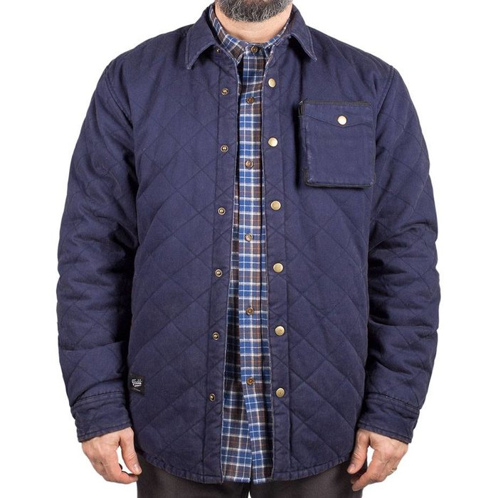 Washed Quilted Jacket Marine