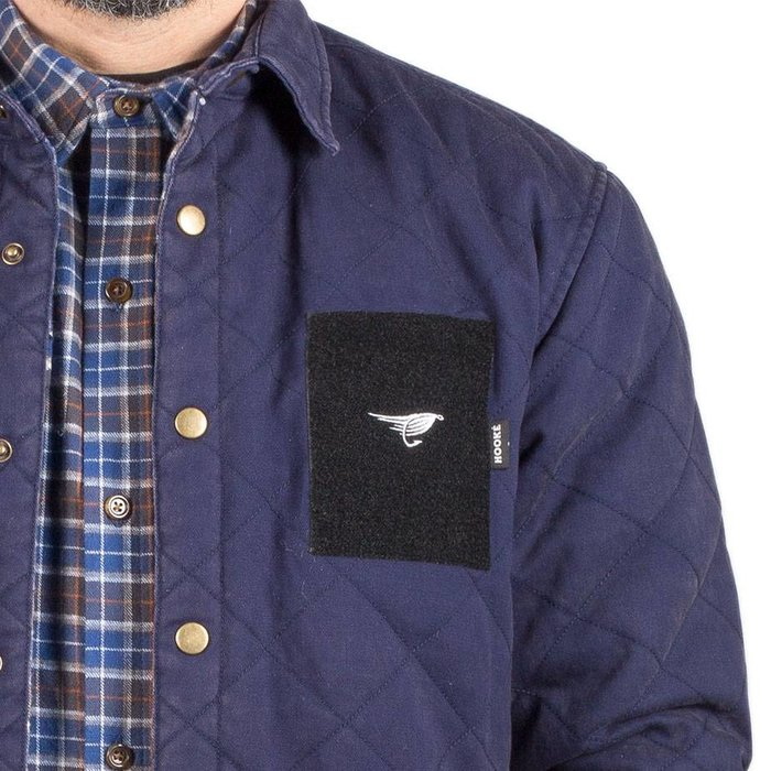 Washed Quilted Jacket Navy