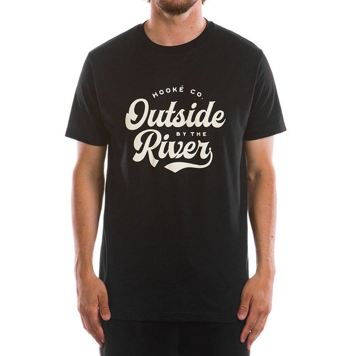 Outside By The River T-Shirt Black