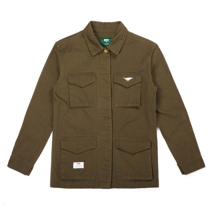 Women Military Jacket Green