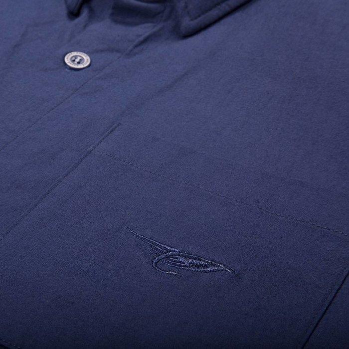 Fly Short Sleeve Shirt Washed Navy