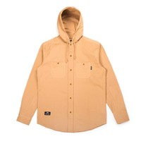 Hooded Shirt Washed Beige