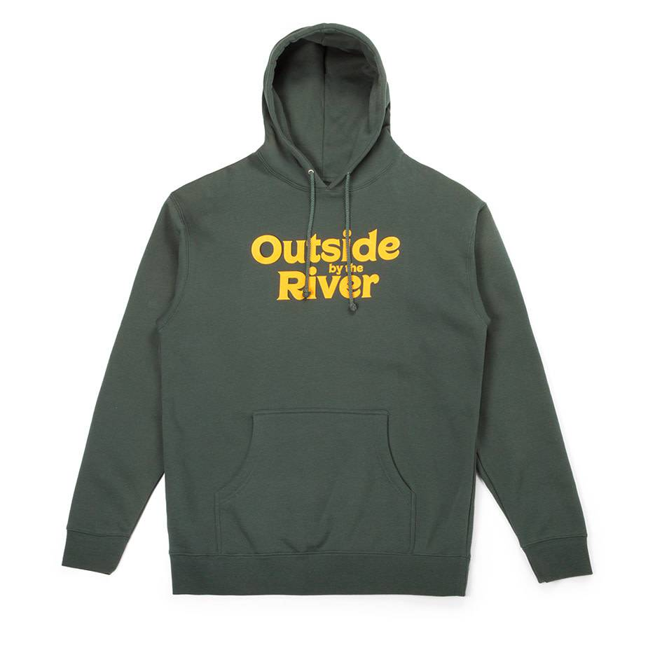 Outside By The River Hoodie Green