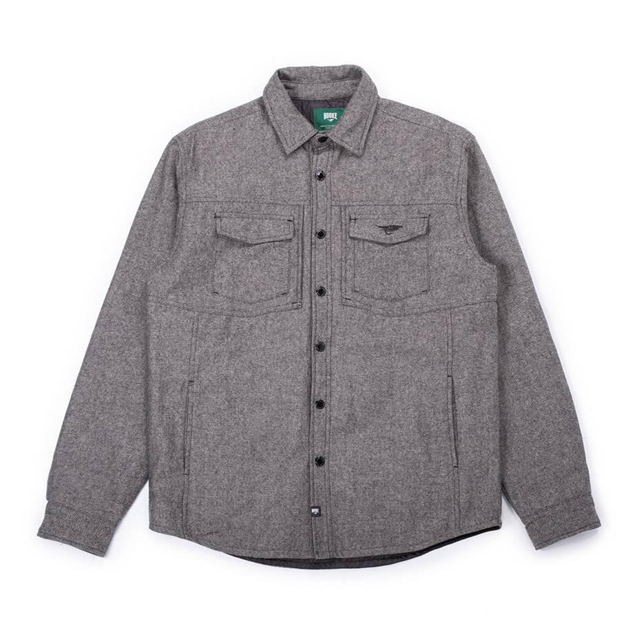 Tweed Insulated Jacket Grey