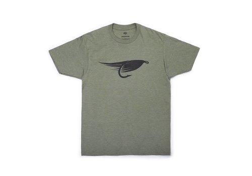 Big Fly T-Shirt Olive Chiné