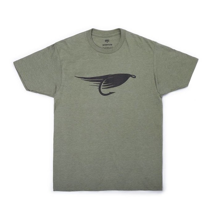 Big Fly T-Shirt Olive Chiné