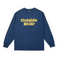 Outside By The River LS Tee Blue