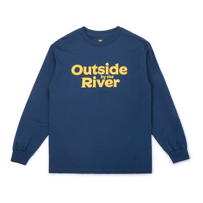 Outside By The River LS Tee Bleu