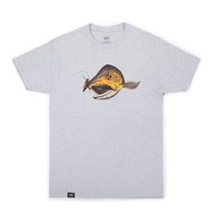 Wandering Blue Lines Trout T Grey