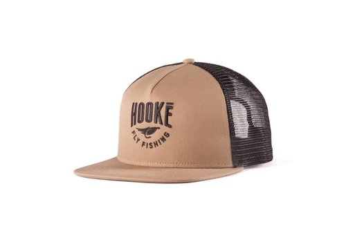 Fly Fishing Trucker Hat Camel & Black