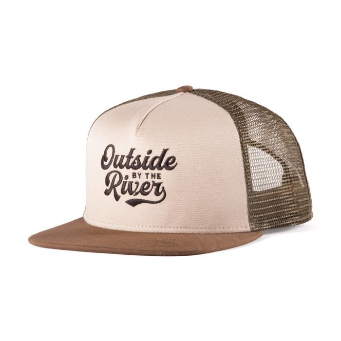 River Trucker Hat Beige, Khaki & Brown
