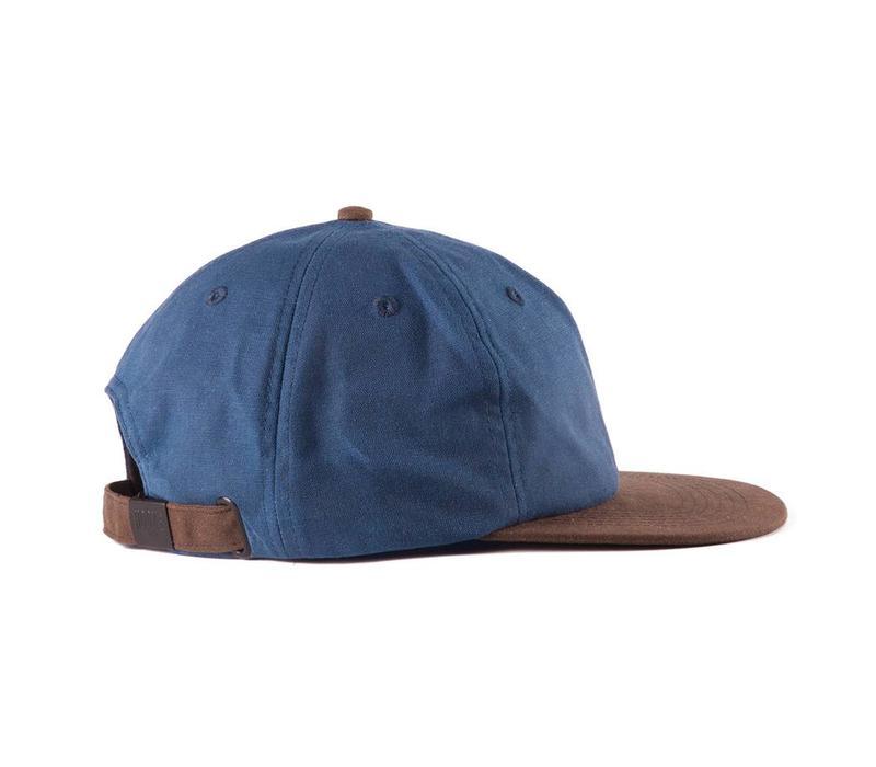 Hooké Waxed Strap Back Blue & Brown